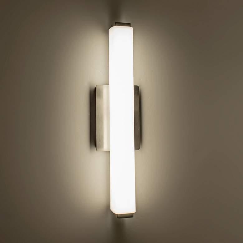 """Modern Forms Vogue 20"""" Wide Brushed Nickel LED Bath Light"""