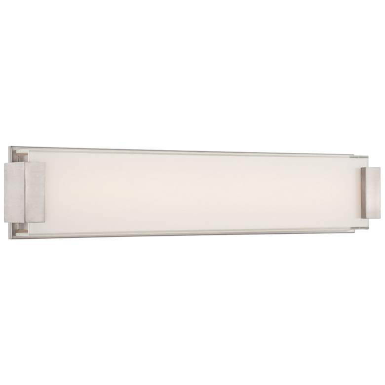 "Modern Forms Polar 26"" Wide Brushed Nickel LED"