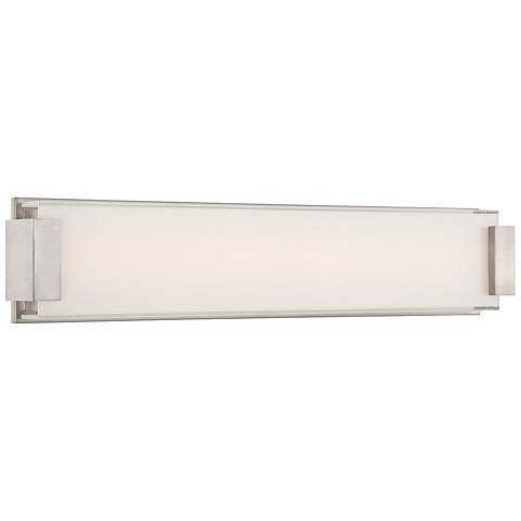 "Modern Forms Polar 26"" Wide Brushed Nickel LED Bath Light"