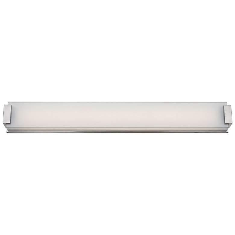 """Modern Forms Polar 40"""" Wide Brushed Nickel LED Bath Light"""