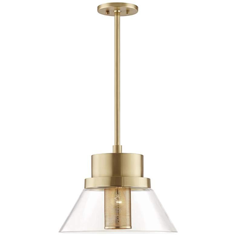 "Hudson Valley Paoli 15 3/4"" Wide Aged Brass Pendant Light"