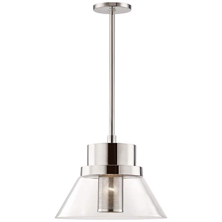 "Hudson Valley Paoli 15 3/4""W Polished Nickel Pendant Light"