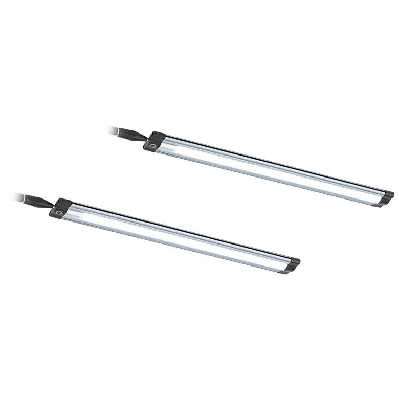 """Grayson Slim 12"""" Wide LED Under Cabinet Light Set of 2"""