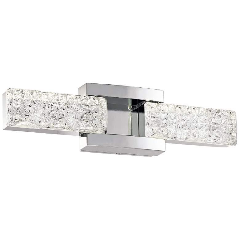 """Sofia 19"""" Wide Polished Nickel 2-Light LED Bath Light"""