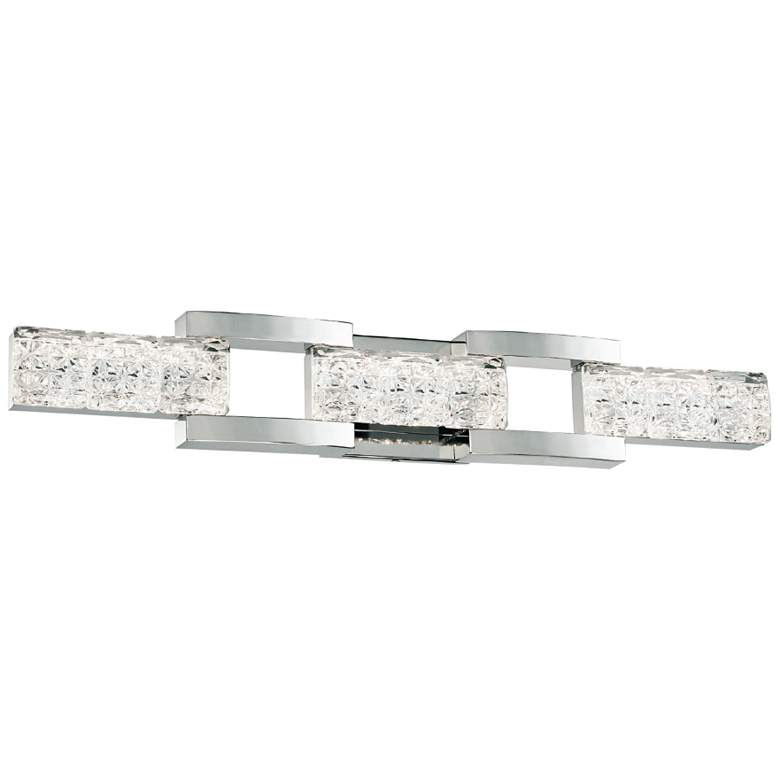 "Sofia 30"" Wide Polished Nickel 3-Light LED Bath Light"