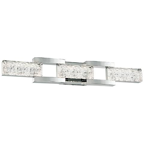 """Sofia 30"""" Wide Polished Nickel 3-Light LED Bath Light"""