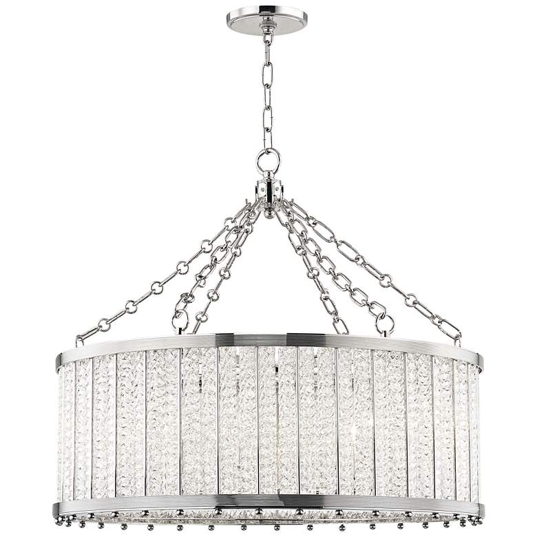 """Hudson Valley Shelby 28"""" Wide Polished Nickel Pendant Light"""