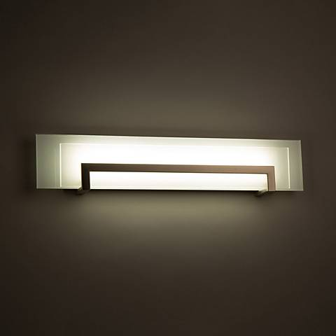 "Modern Forms Margin 26"" Wide Satin Nickel LED Bath Light"