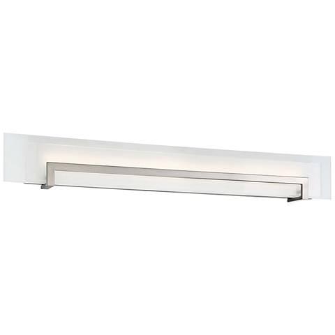 "Modern Forms Margin 38"" Wide Satin Nickel LED Bath Light"