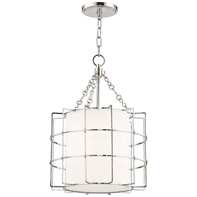 "Hudson Valley Sovereign 16""W Polished Nickel Pendant Light"