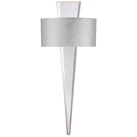 "Modern Forms Palladian 23 3/4""H Silver Leaf LED Wall Sconce"