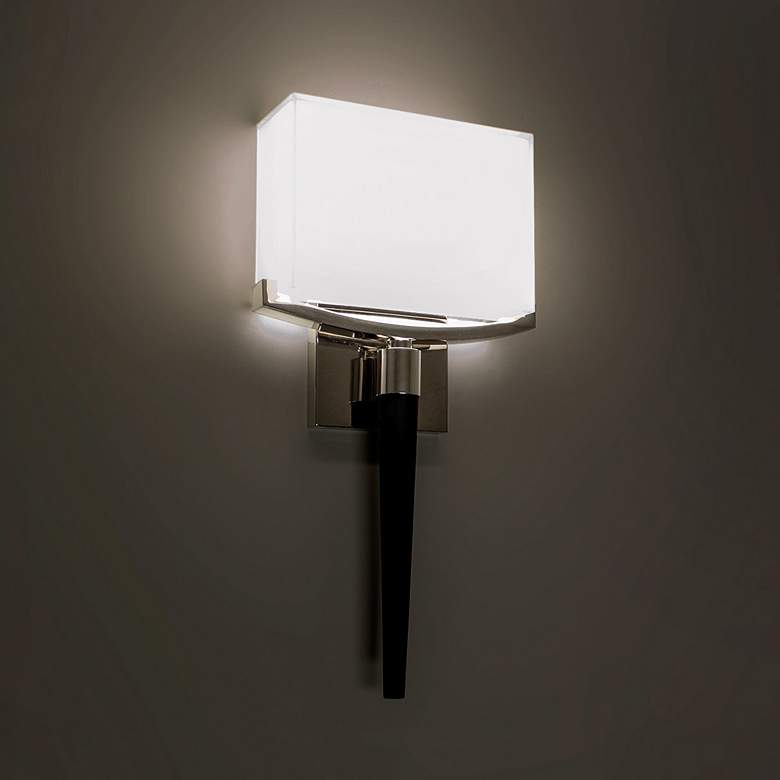 """Modern Forms Muse 18"""" High Polished Nickel LED Wall Sconce"""