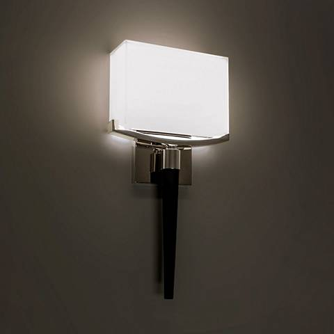 "Modern Forms Muse 18"" High Polished Nickel LED Wall Sconce"