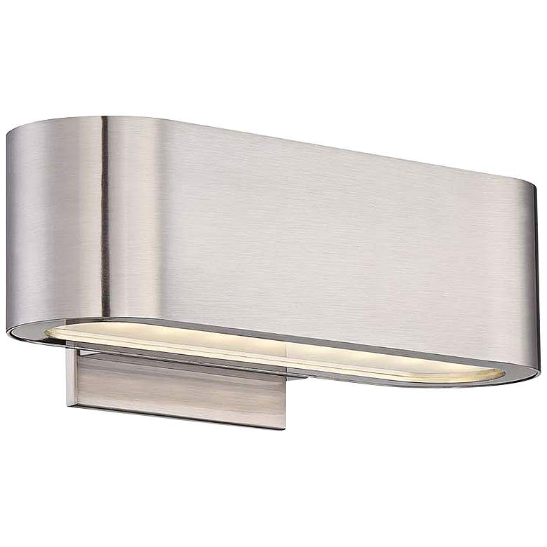 """Modern Forms Nia 4 1/2"""" High Brushed Nickel Up-Down LED Wall Sconce"""