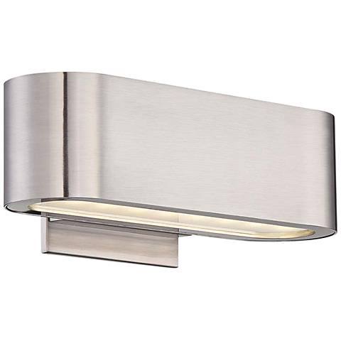 """Modern Forms Nia 4 1/2"""" High Brushed Nickel LED Wall Sconce"""