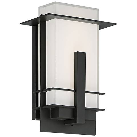 """Modern Forms Kyoto 10"""" High Bronze LED Outdoor Wall Light"""