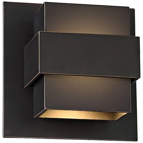 """Modern Forms Pandora 7"""" High Bronze LED Outdoor Wall Light"""