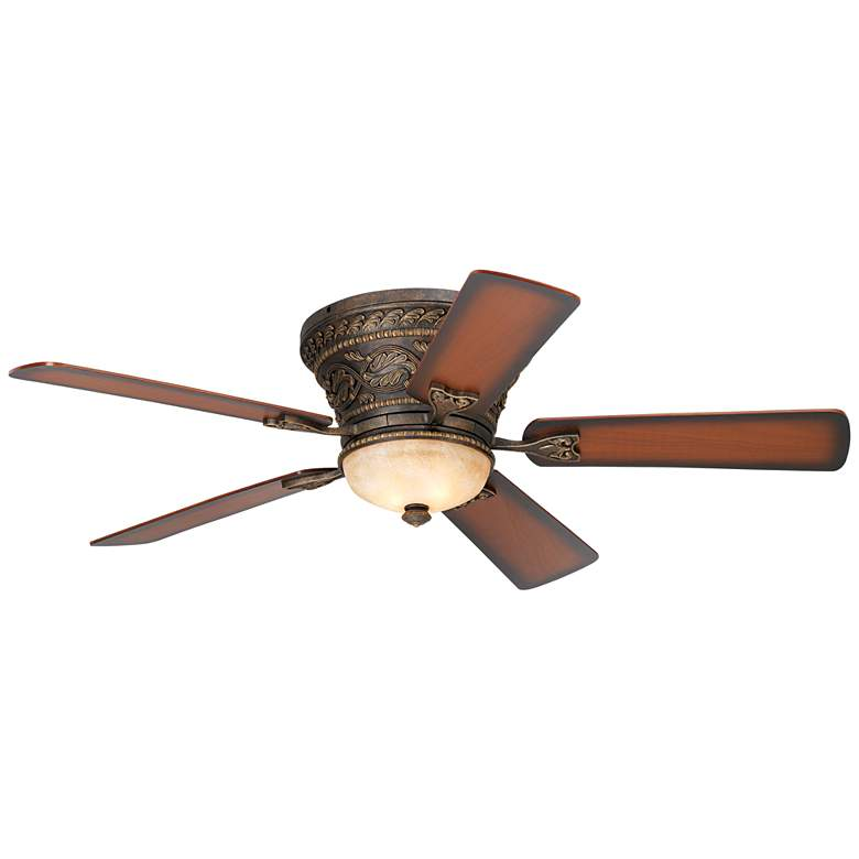 "52"" Casa Vieja Ancestry™ Bronze Hugger LED Ceiling Fan"