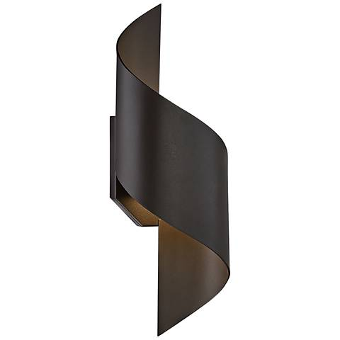 "Modern Forms Helix 17"" High Bronze LED Outdoor Wall Light"