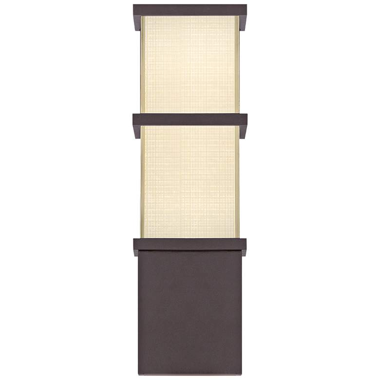 """Modern Forms Elevation 16""""H Bronze LED Outdoor Wall Light"""
