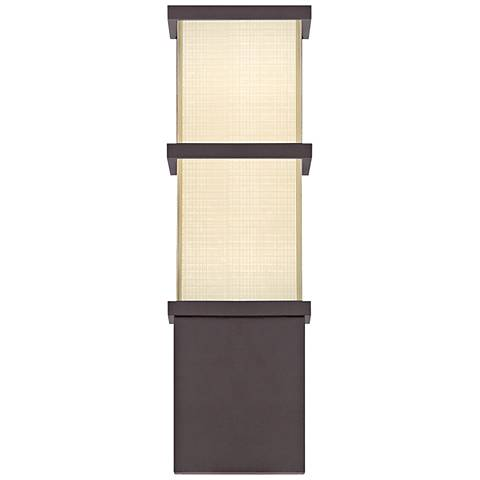"Modern Forms Elevation 16""H Bronze LED Outdoor Wall Light"