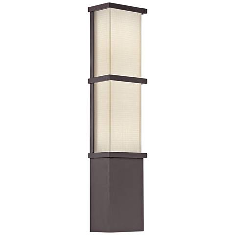 """Modern Forms Elevation 22""""H Bronze LED Outdoor Wall Light"""