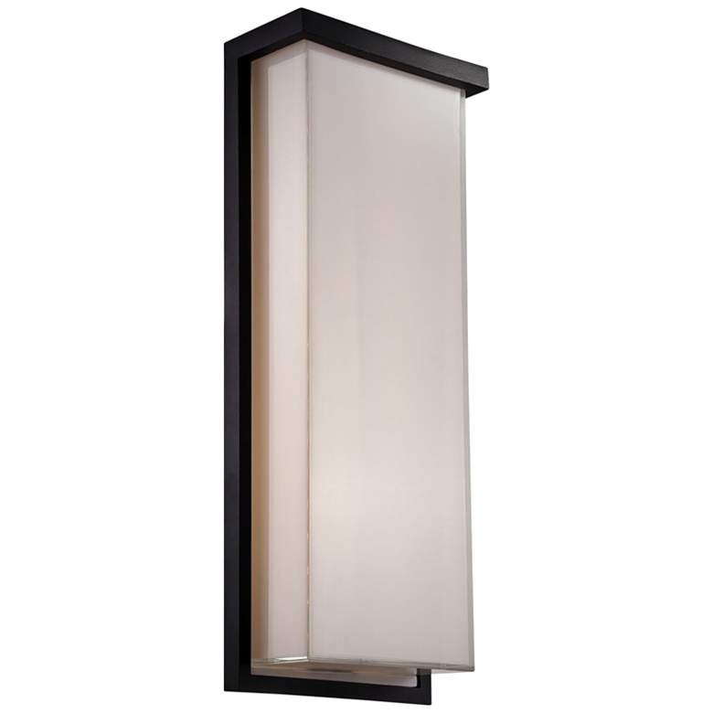 """Modern Forms Ledge 20"""" High Black LED Outdoor Wall Light"""