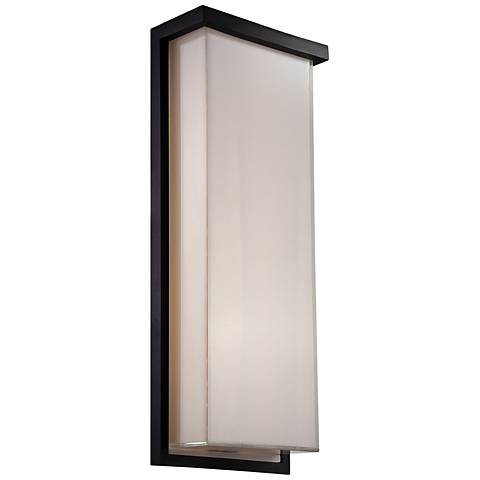 "Modern Forms Ledge 20"" High Black LED Outdoor Wall Light"