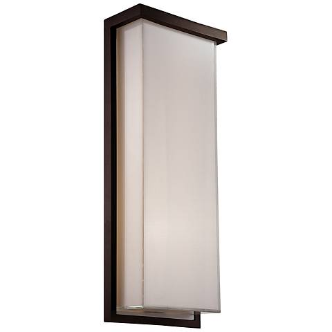"Modern Forms Ledge 20"" High Bronze LED Outdoor Wall Light"