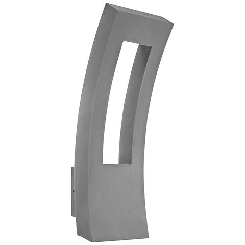 "Modern Forms Dawn 23"" High Graphite LED Outdoor Wall Light"