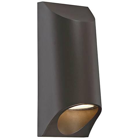 "Modern Forms Mega 11"" High Bronze LED Outdoor Wall Light"