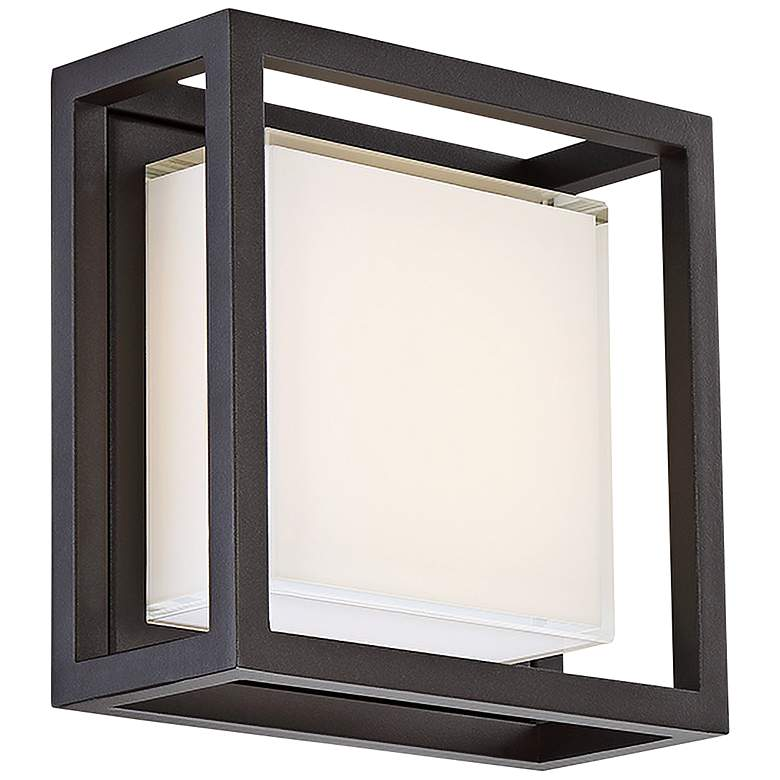 """Modern Forms Framed 8""""H Bronze Square LED Outdoor Wall Light"""