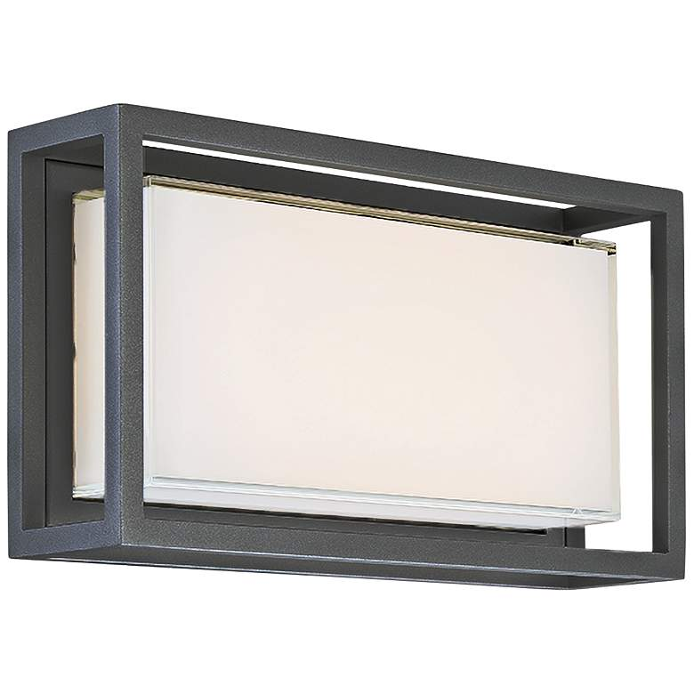 "Modern Forms Framed 8"" High Bronze LED Outdoor Wall Light"