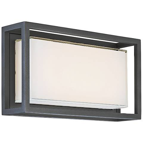 "Modern Forms Framed 8"" High Bronze LED Outdoor Wall Light"