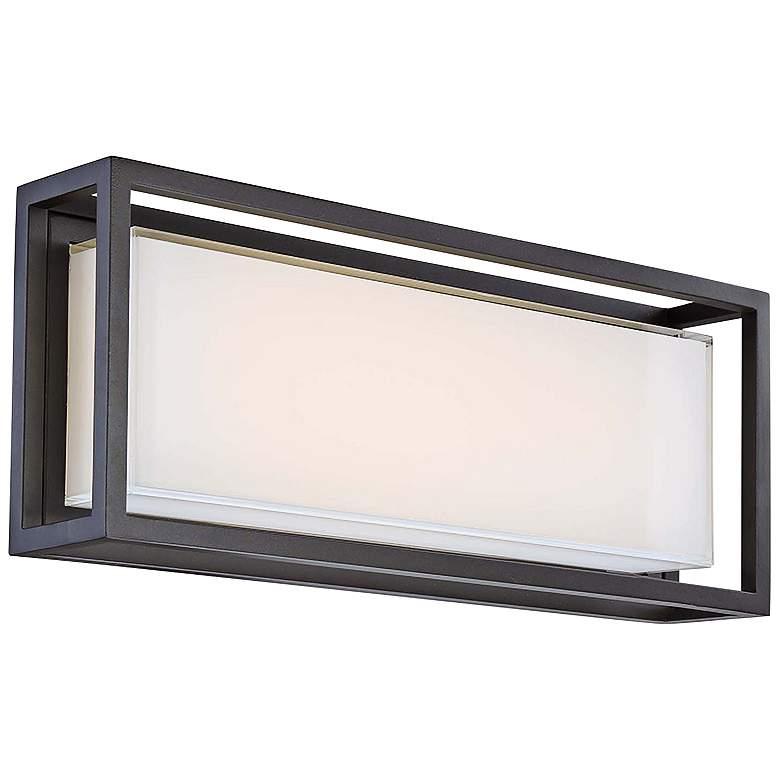 "Modern Forms Framed 10"" High Bronze LED Outdoor Wall Light"