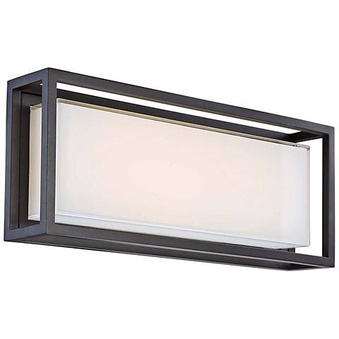 "Modern Forms Framed 10"" High Bronze LED Outdoor Wall Light"
