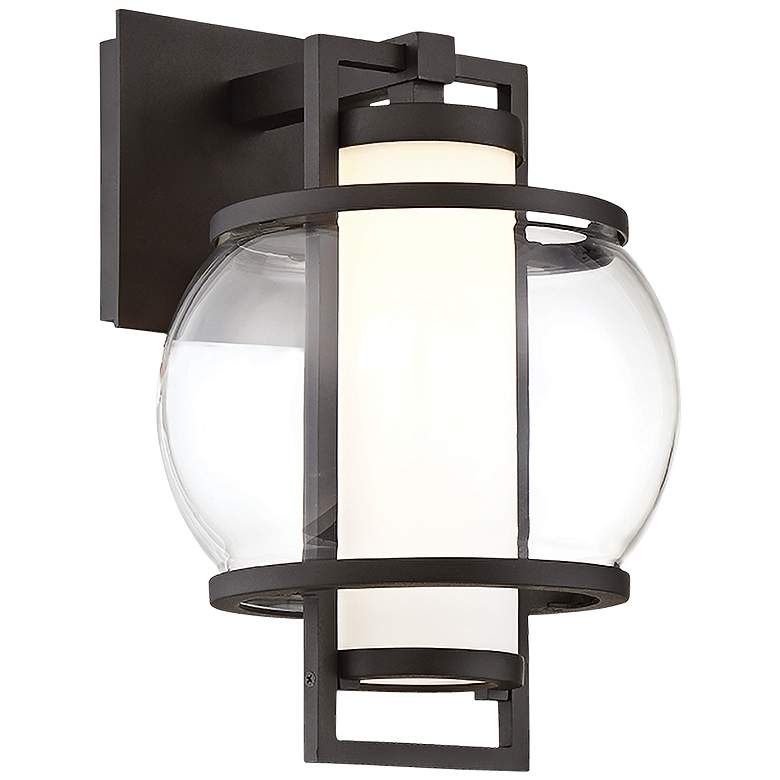 """Modern Forms Lucid 12"""" High Black LED Outdoor Wall Light"""