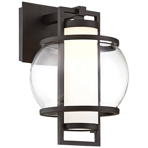"Modern Forms Lucid 12"" High Black LED Outdoor Wall Light"