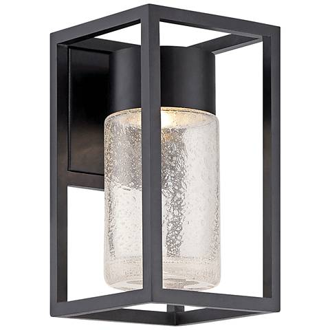"""Modern Forms Structure 11"""" High Black LED Outdoor Wall Light"""