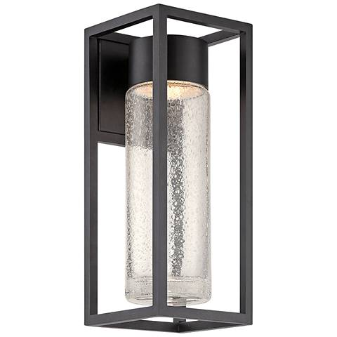 """Modern Forms Structure 16"""" High Black LED Outdoor Wall Light"""