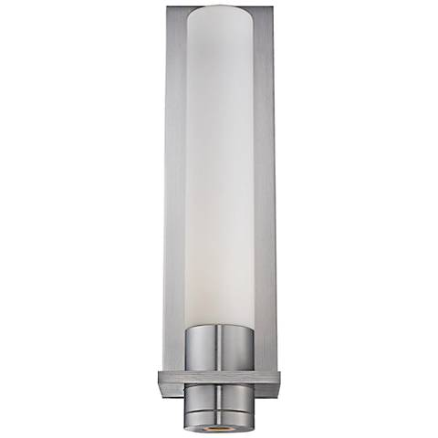 """Jedi 17 3/4"""" High Brushed Aluminum LED Outdoor Wall Light"""