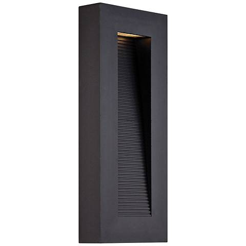 "Modern Forms Urban 16"" High Black LED Outdoor Wall Light"