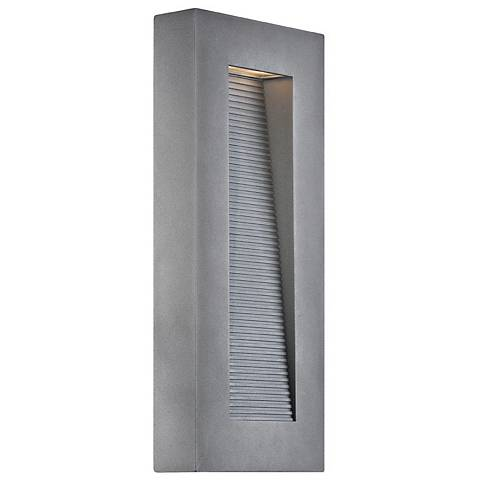 "Modern Forms Urban 16"" High Graphite LED Outdoor Wall Light"