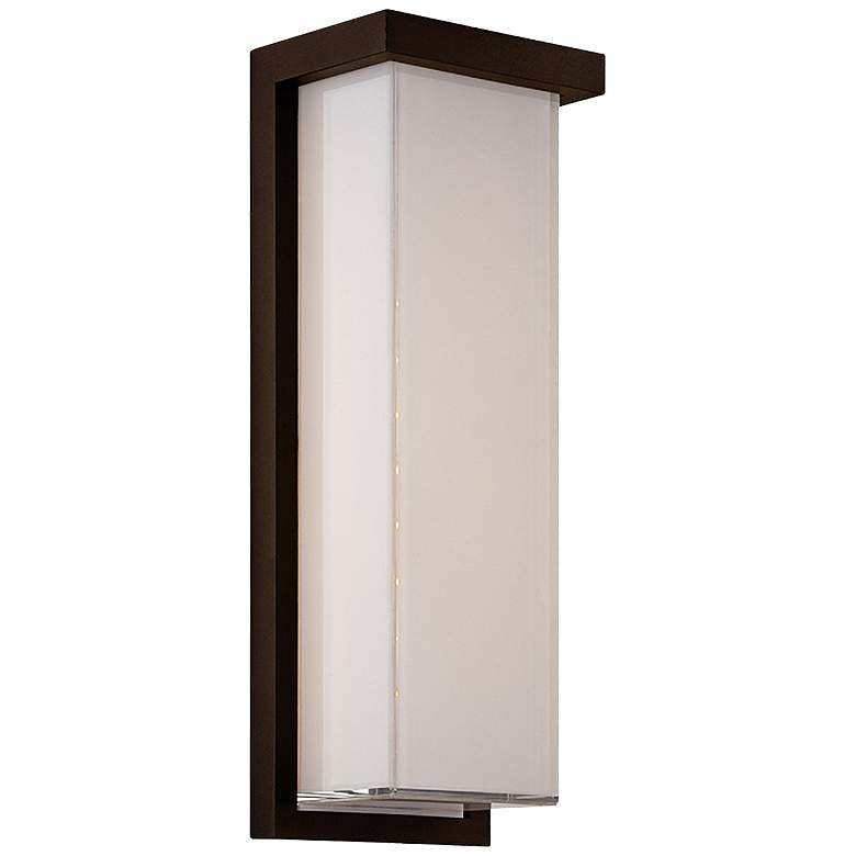 """Modern Forms Ledge 14"""" High Bronze LED Outdoor Wall Light"""