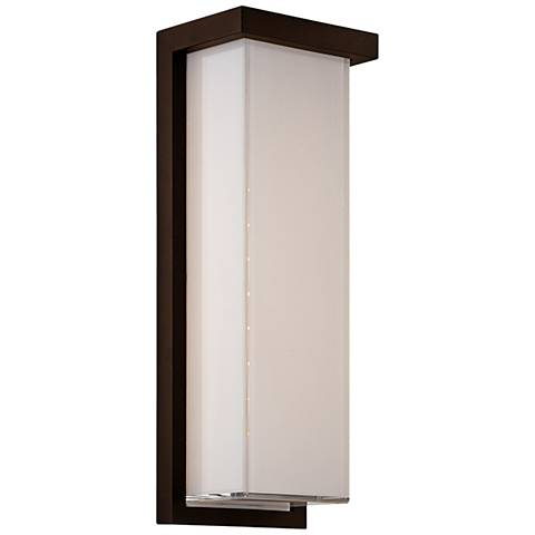 "Modern Forms Ledge 14"" High Bronze LED Outdoor Wall Light"