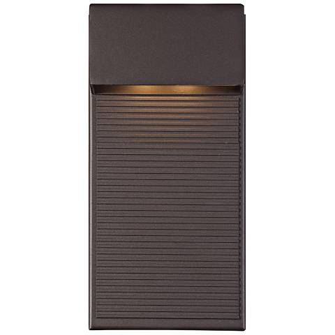 "Modern Forms Hiline 12"" High Bronze LED Outdoor Wall Light"