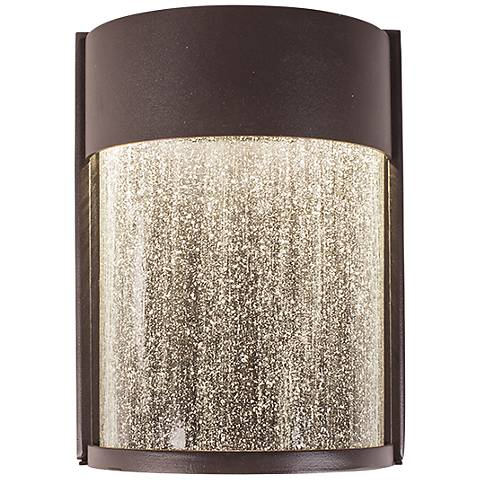 """Modern Forms Rain 8"""" High Bronze LED Outdoor Wall Light"""