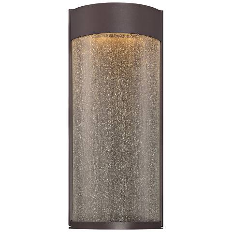 """Modern Forms Rain 16"""" High Bronze LED Outdoor Wall Light"""