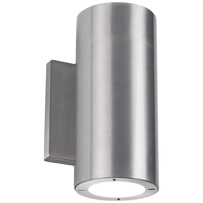 """Vessel 7 1/2"""" High Brushed Aluminum LED Outdoor Wall Light"""