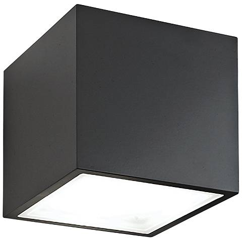 "Modern Forms Bloc 5 1/2"" High Black LED Outdoor Wall Light"